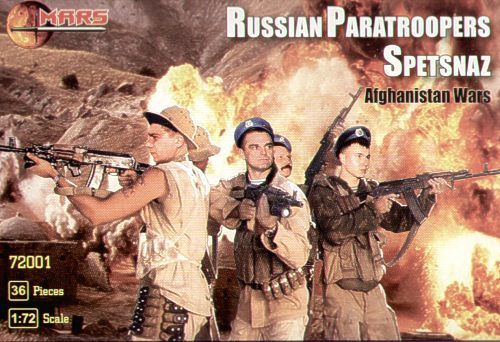 Mars 1/72 Russian (Post WWII) Spetsnaz Paratroopers, Afghanistan # 72001
