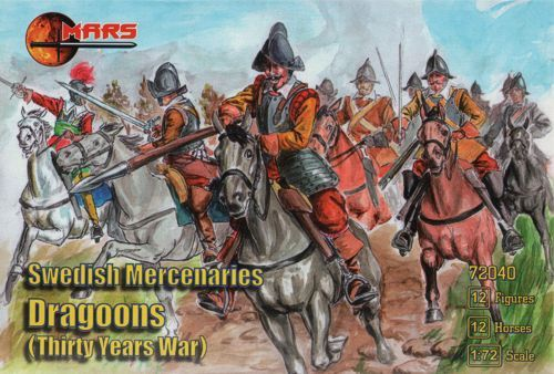 Mars 1/72 Swedish Mercenaries Dragoons Thirty Years War # 72040
