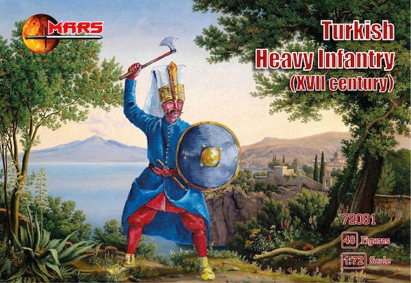Mars 1/72 Turkish Heavy Infantry 17th Century # 72091