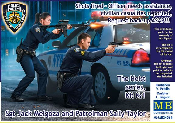 Master Box 1/24 The Heist Series, Kit No.1 Sgt Jack Melgoza and Patrolman Sally Taylor # 24064