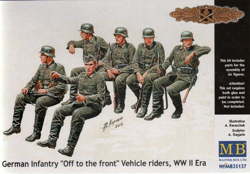 Master Box 1/35 German Infantry 'Off to the Front' Vehicle Rider