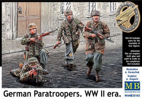 Master Box 1/35 German Paratroopers WWII # 35145