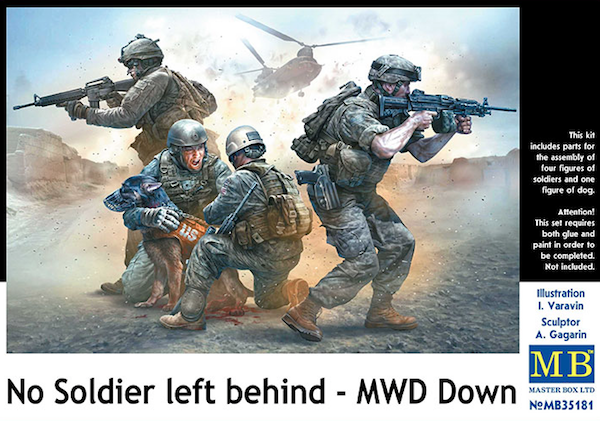 Master Box 1/35 No Soldier Left Behind - MWD Down # 35181