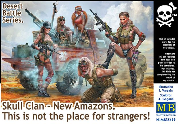 Master Box 1/35 Skull Clan - New Amazons. This is not a place for stranges! # 35199