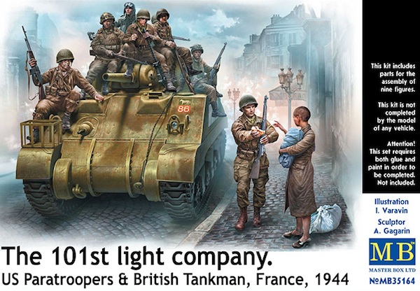 Master Box 1/35 The 101st Light Company US Paratroopers & Britis