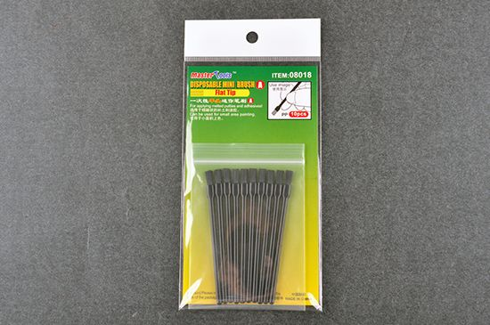 Master Tools - Disposable Mini Brush Flat Tip (Pack of 10) # 08018
