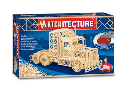 Matchitecture - Big Rig Trailer Truck Matchstick Kit # 6622