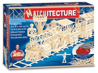 Matchitecture - Gold Rush Train Matchstick Kit # 6613