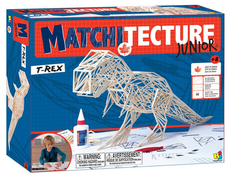 Matchitecture Junior - T-Rex Matchstick Kit # 6801