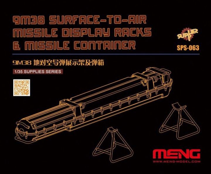 Meng 1/35 9M38 Surface-to-Air Missile Display Racks & Missile Container # SPS-063