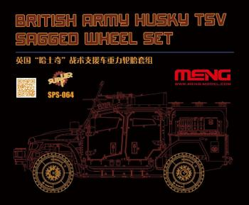 Meng 1/35 British Army Husky TSV Sagged Wheel Set # SPS-064