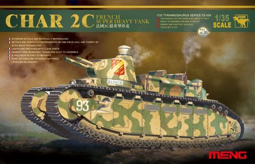 Meng 1/35 Char 2C French Super Heavy Tank # TS-009