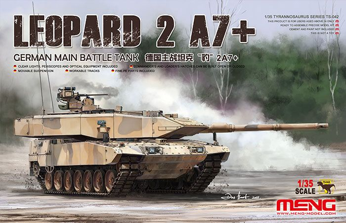Meng 1/35 German Leopard 2 A7+ Main Battle Tank # TS-042