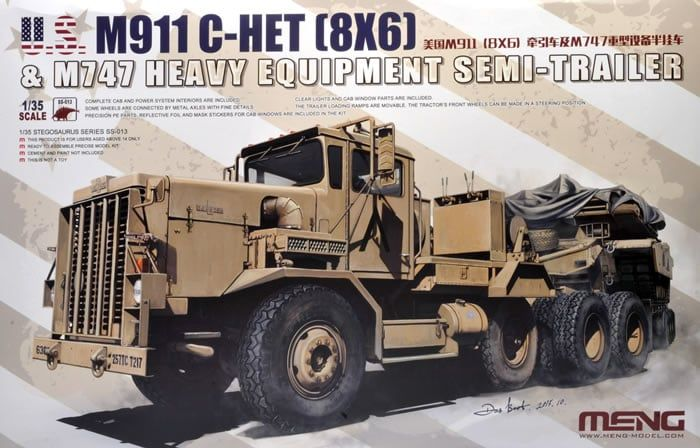 Meng 1/35 M911 C-HET (8x6) & M747 Heavy Equipment Semi-Trailer # SS-013