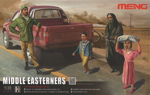 Meng 1/35 Middle Easterners in the Street - 4 figures # HS-001