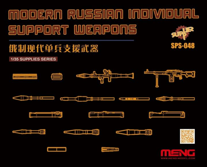 Meng 1/35 Modern Russian Individual Support Weapons # SPS-048