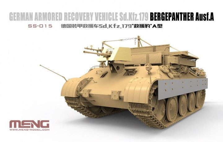 Meng 1/35 Sd.Kfz. 179 Bergepanther Ausf. A German Armored Recovery Vehicle # SS-015