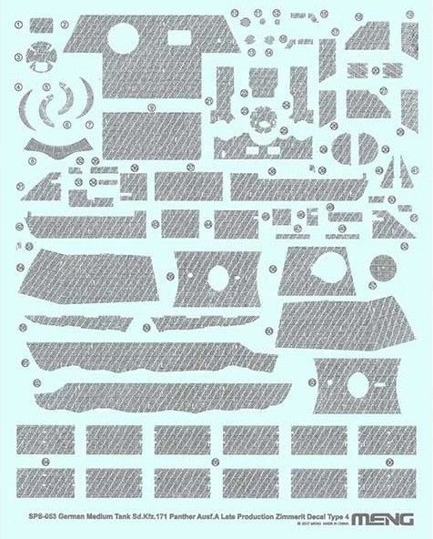 Meng 1/35 Sd.Kfz.171 Panther Ausf. A (Late) Zimmerit Decal Type 4 # SPS-053