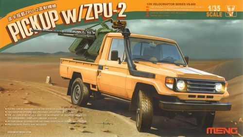 Meng 1/35 Toyota Hilux Pick Up Truck w/ ZU23-2 # VS-005