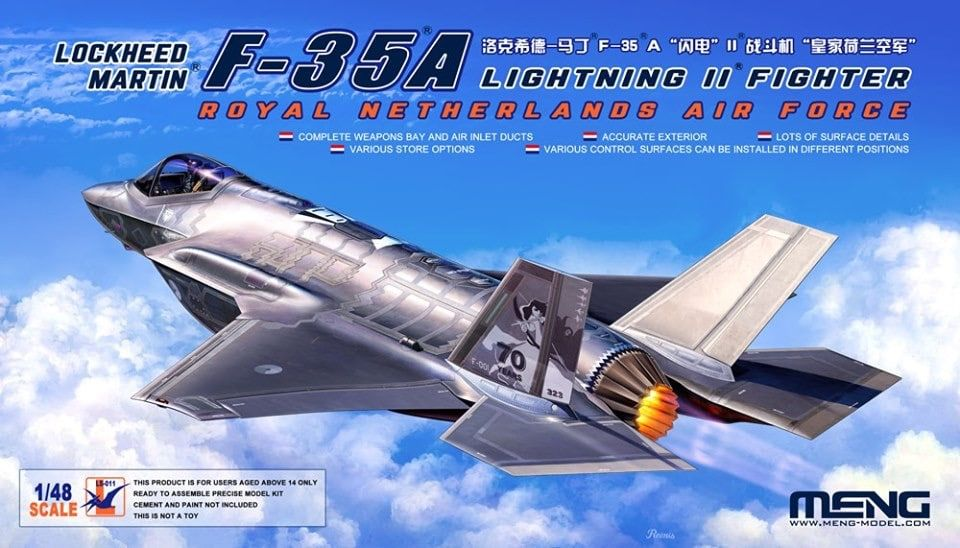 Meng 1/48 Lockheed-Martin F-35A Lightning II Fighter (Royal Netherlands Air Force) # LS-011