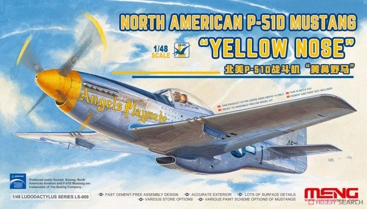 "Meng 1/48 North American P-51D Mustang ""Yellow Nose"" # LS-009"