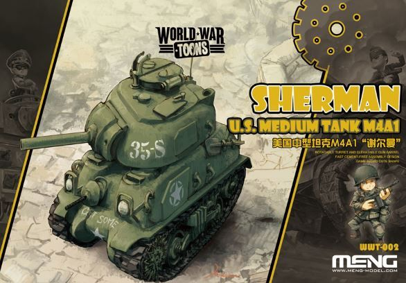 Meng - M4A1 Sherman U.S Tank World War Toon # WWT-002
