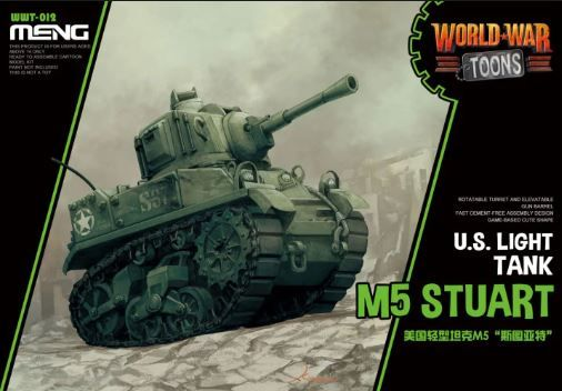 Meng - M5 Stuart U.S. Light Tank World War Toon # WWT-012