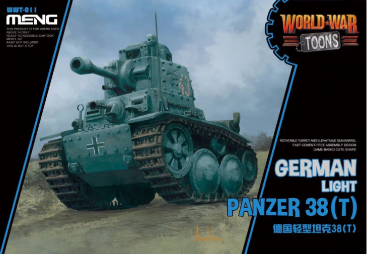 Meng - Panzer 38(t) German Light Tank World War Toon # WWT-011