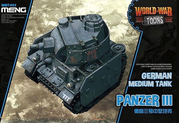 Meng - Panzer III German Medium Tank World War Toon # WWT-005