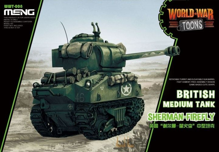 Meng - Sherman Firefly British Medium Tank World War Toon # WWT-008