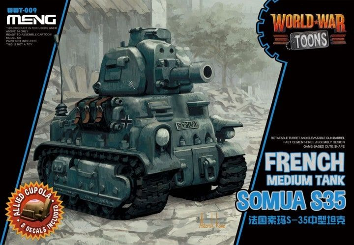 Meng - Somua S35 French Medium Tank World War Toon # WWT-009