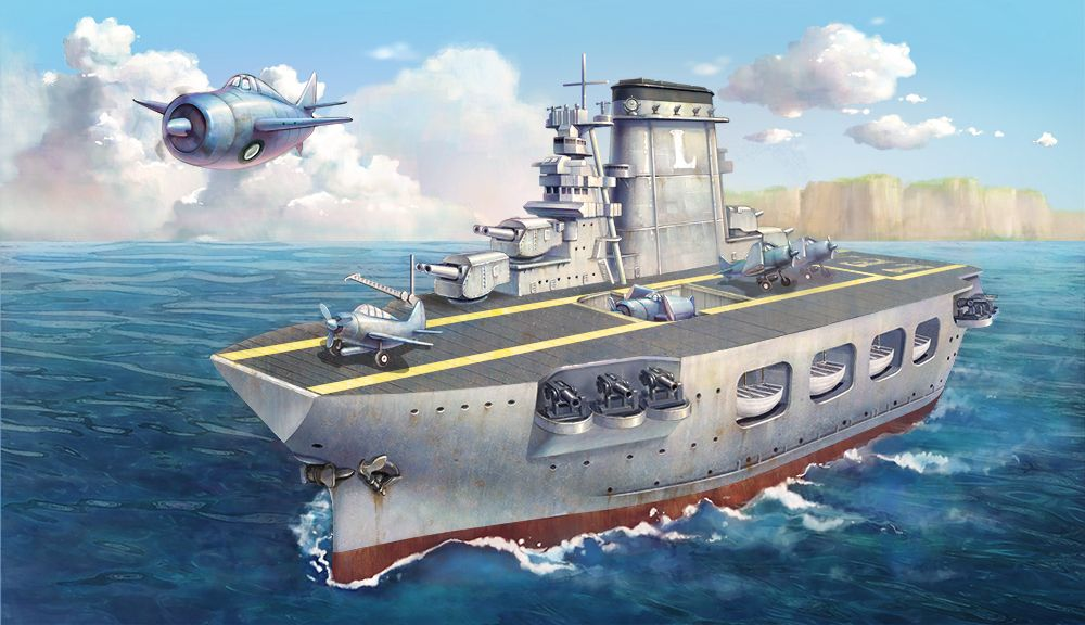 Meng - Warship Builder Aircraft Carrier Lexington Cartoon Ship # WB-001
