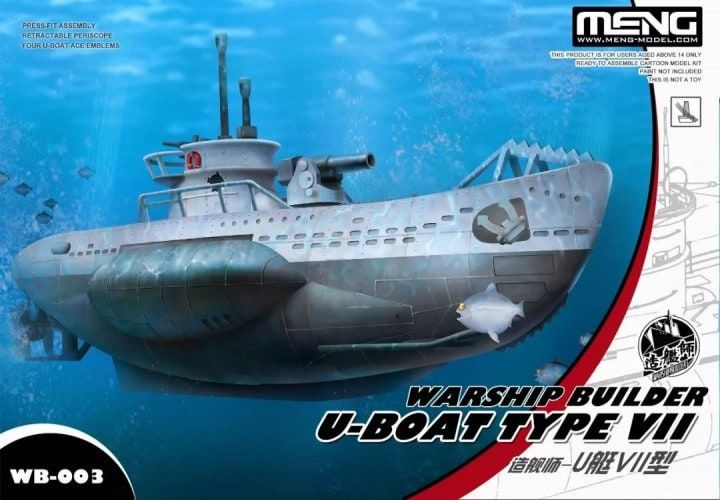 Meng - Warship Builder U-Boat Type VII Cartoon Ship # WB-003