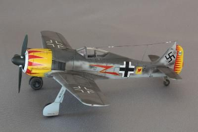 "Merit 1/18 Focke-Wulf Fw-190A-5 ""Major Graf"" (Built & Painted) # 60031"