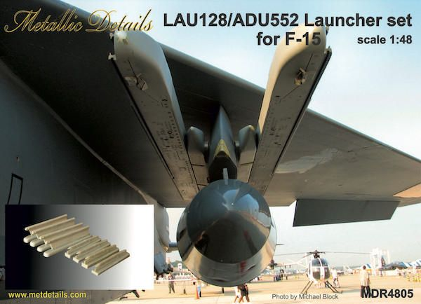 Metallic Details 1/48 LAU-128/ADU-552 Launcher Set for McDonnell F-15 Eagle # MDR4805