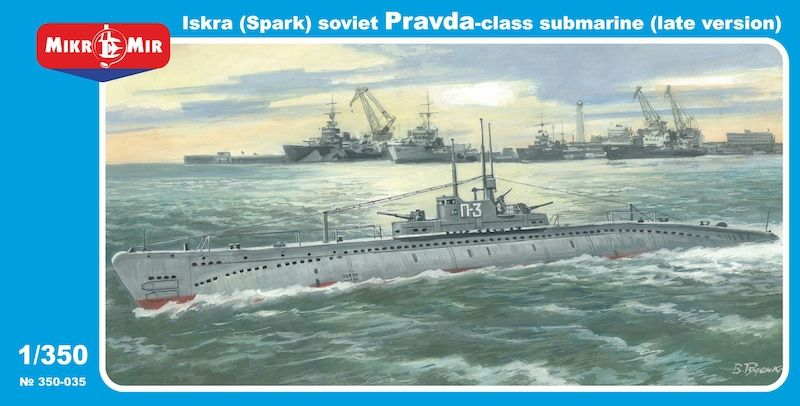 Micro-Mir 1/350 Iskra (Spark) Pravda-class Soviet Submarine (Late Version) # 350-35