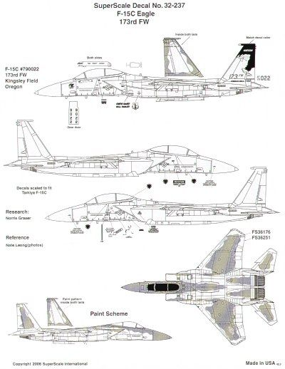 Microscale 1/32 McDonnell F-15C Eagle # SS32237