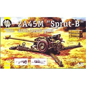 Military Wheels 1/72 2A45M Sprut-B Anti-tank Gun # 7231