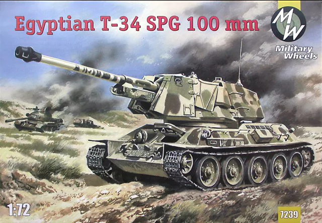 Military Wheels 1/72 Egyptian T-34 SPG 100mm # 7239