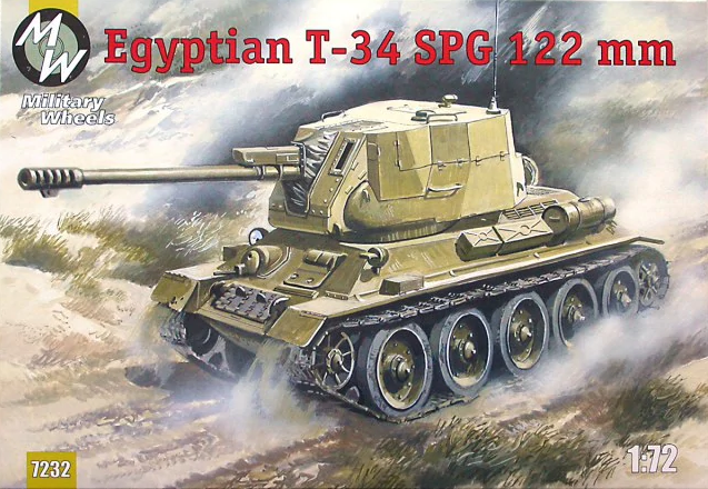 Military Wheels 1/72 Egyptian T-34 SPG 122mm # 7232