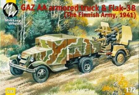 Military Wheels 1/72 GAZ AA and Flak 38 Finnish # 7243