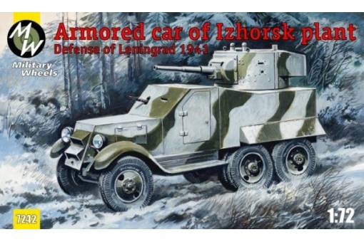 Military Wheels 1/72 Izhorsk Plant Armoured Car # 7242