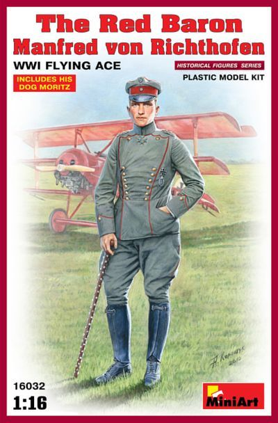 Miniart 1/16 The Red Baron Manfred von Richthofen WWI Flying Ace