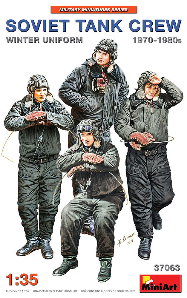 Miniart 1/35 Soviet Tank Crew in Winter Uniform 1970-1980's # 37063