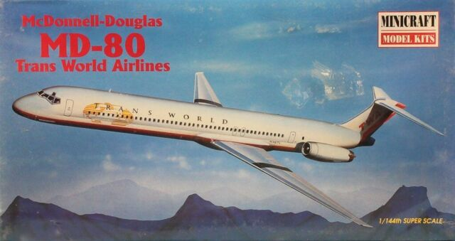 Minicraft 1/144 McDonnell-Douglas MD-80 Trans World Airlines # 14452B
