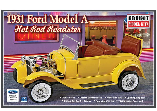 Minicraft 1/16 1931 Ford Model A Hot Rod Roaster # 11240