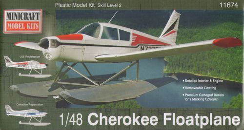 Minicraft 1/48 Piper Cherokee Float Plane # 11674