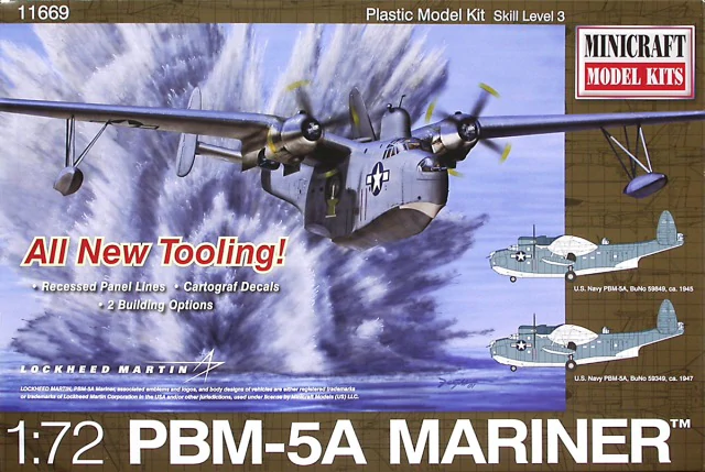 Minicraft 1/72 Martin PBM-5A Mariner Flying Boat # 11669