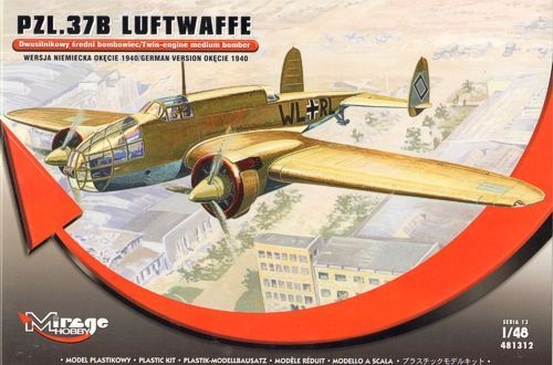 Mirage 1/48 PZL.37B Luftwaffe # 481312