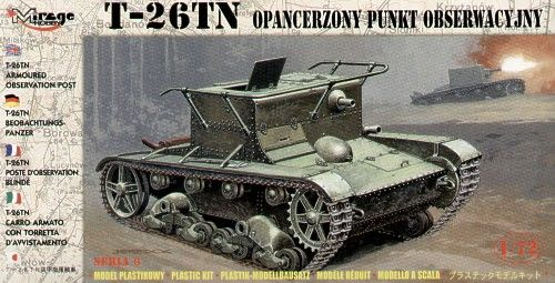 Mirage Hobby 1/72 T-26TN Armoured Observation Post # 72606